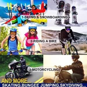 Double Lens Skiing Snowboarding Goggles Anti Wind Dust UV Snow Sun Glass#SOH