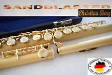 Flauta transversal jabones flute sandblasted flute Dorée sablée flauto oro sabbi