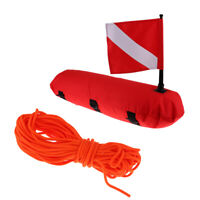 Safe Inflatable Float Buoy Floats with Dive Flag & 100ft Floating Rope Line