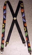 """Suspenders Children & Junior 1""""x36"""" FULLY Elastic Halloween Ghosts & Goblins NEW"""
