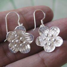 Verynice Flower Thai Karen hilltribe Earring 925 White Sterling Silver
