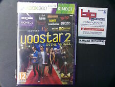 YOOSTAR 2 IN THE MOVIES KINECT XBOX 360 PAL ITA NUOVO SIGILLATO