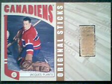 JACQUES PLANTE   AUTHENTIC PIECE OF A GAME-USED STICK /20  SP