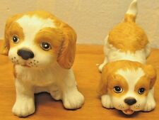 set of vintage homco porcelain dogs