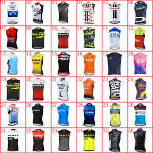 New Men Breathable Cycling Jersey Team Summer Sleeveless bike shirt bicycle vest