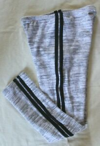 Old Navy Girls Cozy Lined Gray With Black Side Stripes Leggings ~L(10-12)~