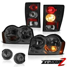 2005-2006 Jeep Grand Cherokee Limited Headlights Foglights Raven Black Taillamps
