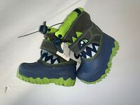 Cat and Jack Toddler Boys Size 4 Blue And Green Monster Thermolite Snow Boots