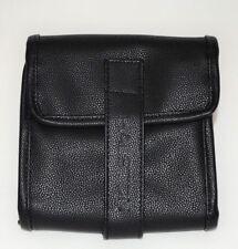 Halston Accessories Bag Case Cosmetic Travel Srorage Leather Zipper Gift Black