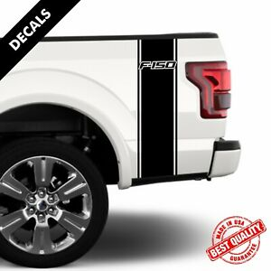 Ford F150 Rear Bed Truck Decals Racing Stripes Set of Two Stickers |13