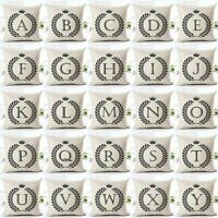 Letter Alphabet Cotton Linen Fashion Pillowcase Decorative Pillows Cushion