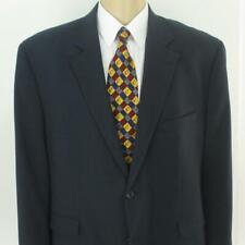 50 S (50 PR) GS Perfect Fit Navy Blue Wool 2 Btn Mens Jacket Sport Coat Blazer