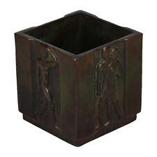 A small Art Deco GAB bronze planter Swedish 1930's design Nude