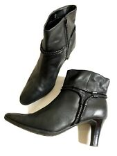 Footglove Leather Ankle Boots 5.5 39 Soft Grip Sole