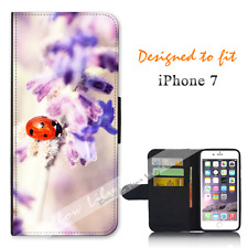 Apple iPhone 7 Wallet Flip Phone Case Cover Pretty Lady Bug Y00888