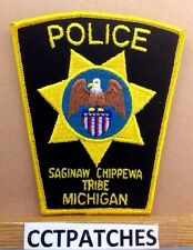 SAGINAW CHIPPEWA TRIBE, MICHIGAN POLICE SHOULDER PATCH MI