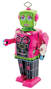 Roberta Wind Up Tin Female Robot by Schylling