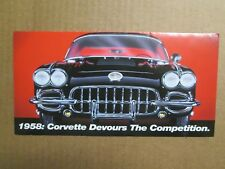 Franklin Mint Brochure 1958 Chevy Corvette