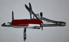 Victorinox Red Swiss Champ Swiss Army knife with Leather holster - Super Nice