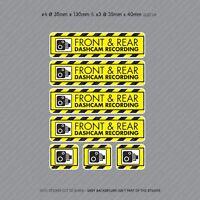 7 x Dash Cam Recording Stickers CCTV In Car Video Camera Decal Sticker - SKU3117