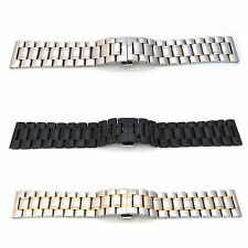 HEAVY Watch Strap Bracelet STAINLESS STEEL 18mm-30mm Band Deployment Clasp S54