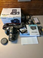 Canon EOS 500D Digital SLR Camera (incl. EF-S 18-55 mm IS Lens Kit) with the bag