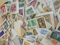 Collections Used Scott a Lot Stamps Paper Postage Crease Lightly Worldwide