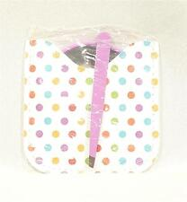 New White and Polka dot Compact Mirror Case and Tweezer Set - NWT