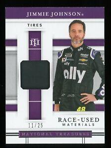 2020 National Treasures Race Used Jimmie Johnson Race Used Tires 11/25