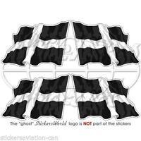 "CORNWALL Cornish Waving Flag ENGLAND UK Bumper Decals, Stickers 2"" (50mm) x4"