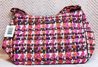 Vera Bradley On The Go Crossbody Purse Houndstooth Tweed Cotton NWT MSRP $70