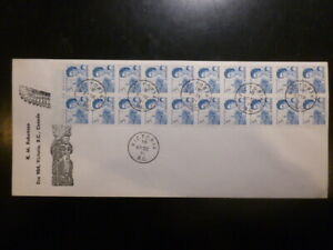 CANADA, 5c Centennial booklet pane of 20 on choice cover, #458c