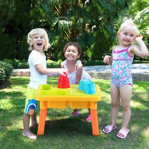 2-in-1 Sand- & Wasserspieltisch Sandkastentisch Kinderspieltisch Strandspielzeug