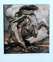 1901 Studio Aufdruck Mann Struggling Mit Centaur Von Gerald Moira