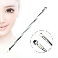 2PC Stainless Pimple Blackhead Remover Extractor Tool Facial Acne Spot Comedone