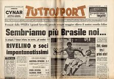 rivista TUTTOSPORT - 04/06/1978 N. 152 MONDIALI SVEZIA, BRASILE