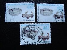 COTE D IVOIRE - timbre yvert/tellier n° 824 x3 obl (A28) stamp