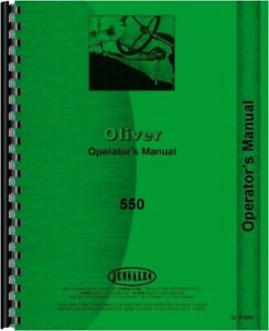 Oliver 550 Tractor Owners Operators Manual