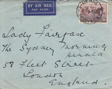 P 839 Airmail 1935 cover UK; to Lady Mabel AE Fairfax of Fairfax Media empire