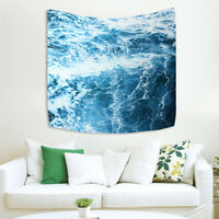 Art Wall Hanging Tapestry Ocean Blue Wave Bedroom Home Decoration Gifts Decor