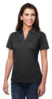 Tri-Mountain Women's Polyester Johnny Collar Casual Polo T-Shirt. KL126