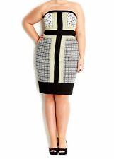 City Chic Elegant Parisian Dress Plus Size M