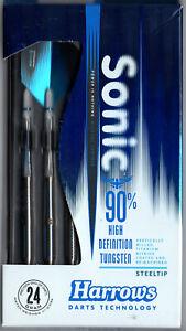 SONIC 24 gram HARROWS Steel Tip Darts 90% Tungsten: 1 set: With Accessories