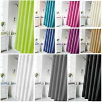 180x180cm Waterline Bathroom Plain Shower Curtain Waterproof with 12 Rings Set