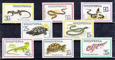 SERIE FRANCOBOLLI NUOVI 1966 ALBANIA RETTILI REPTILES  YVERT 907 / 914   MNH**