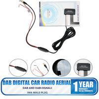 DAB/DAB+ Glass Mount DAB Digital Car Radio Aerial Antenna Adhesive SMA Universal
