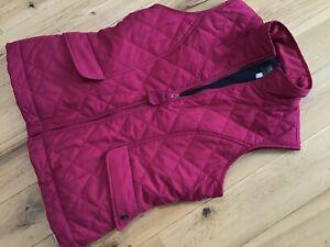 Designer Joules Ladies Red Fleece Bodywarmer Gilet Sleeveless Jacket Size 12