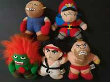 Lot Official Street Fighter 2 Plushes 1991 Capcom