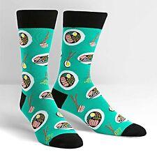 Ra-Man Crew Socks New Men's Hosiery Size 10-13 Sock it to Me Noodles