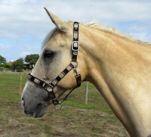 Windsor Equestrian Neoprene Lined Check Headcollar - Shetland Pony Cob Full